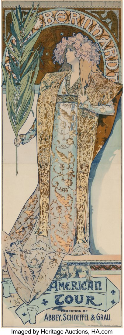 63338: Alphonse Mucha (Czechoslovakian, 1860-1939) Sara