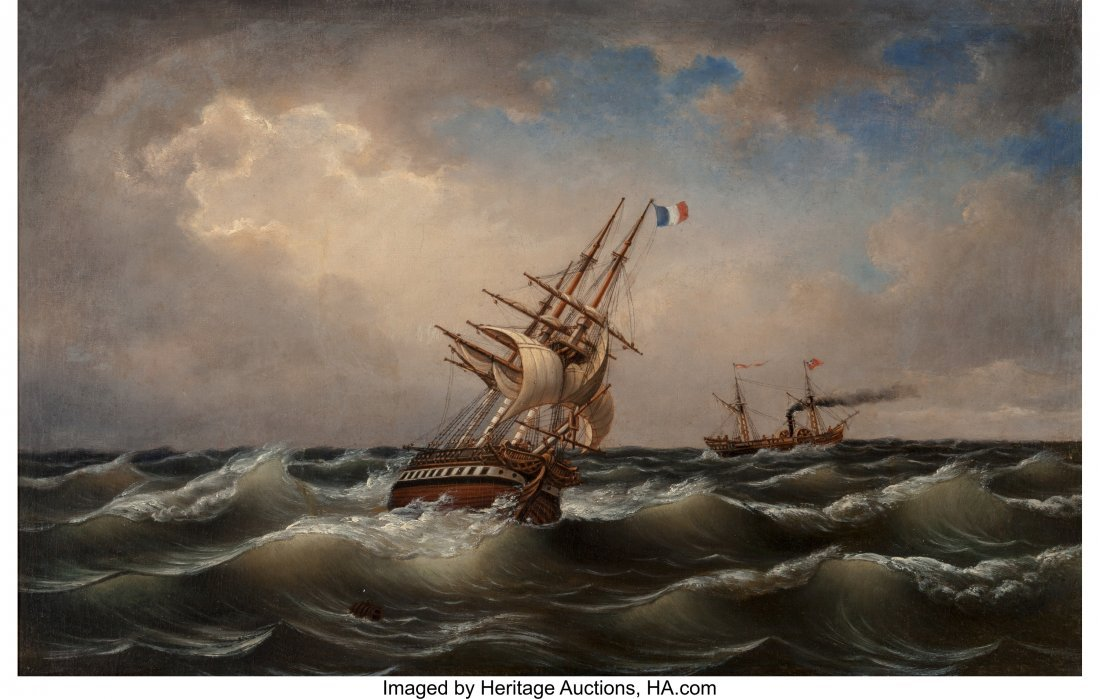 63442: Albert Marees (German, Late 19th Century) Ships