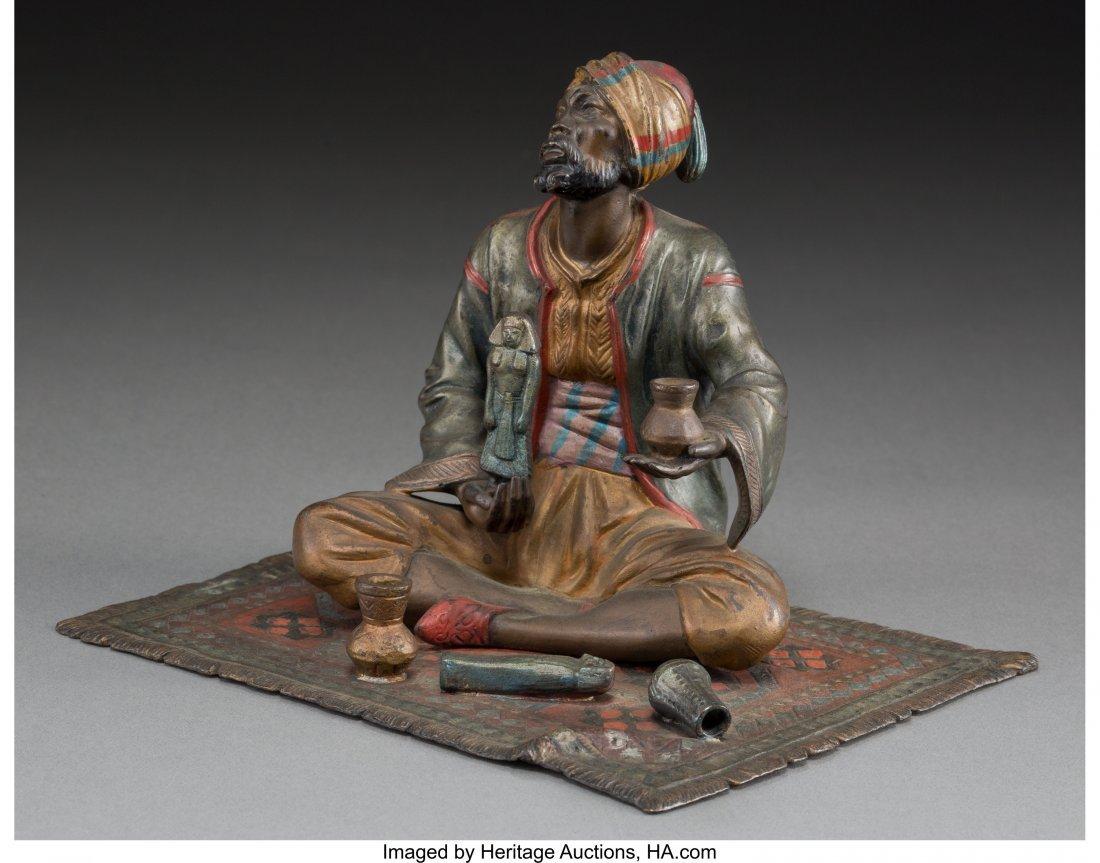 63446: An Austrian Cold-Painted Bronze Figure: Antiquit
