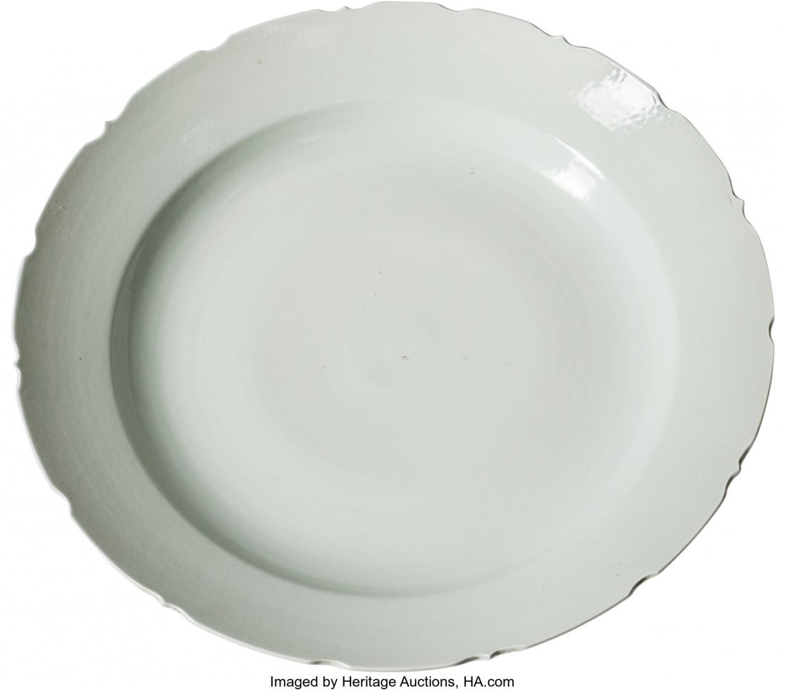63466: A Large Chinese Blanc-de-Chine Porcelain Charger