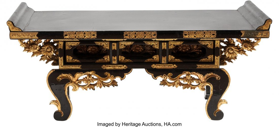 63498: A Japanese Lacquered and Gilt Scholar's Writing