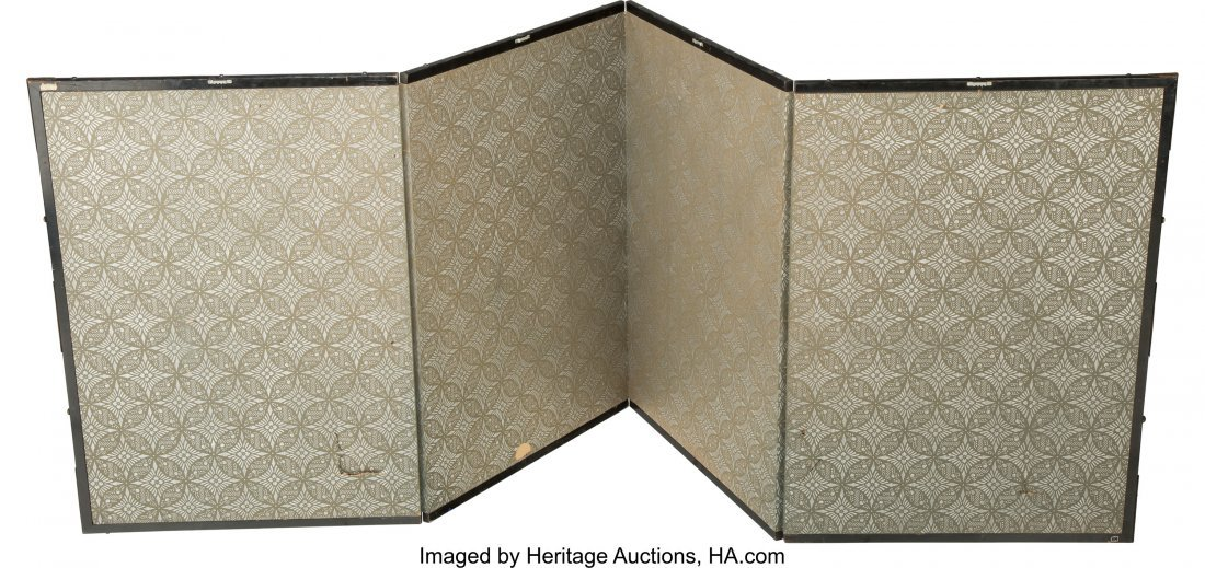 63499: A Japanese Painted Folding Screen, late Meiji Pe - 2