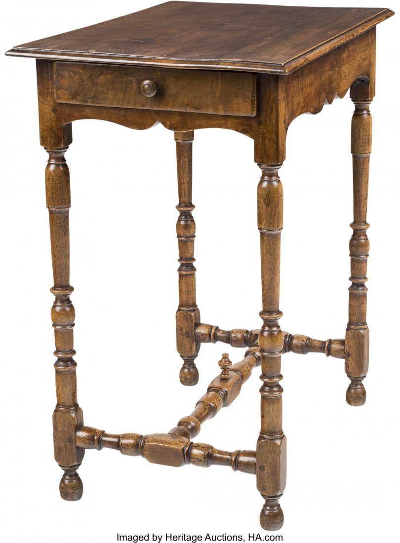 63523: A William & Mary-Style Walnut Side Table, 19th c
