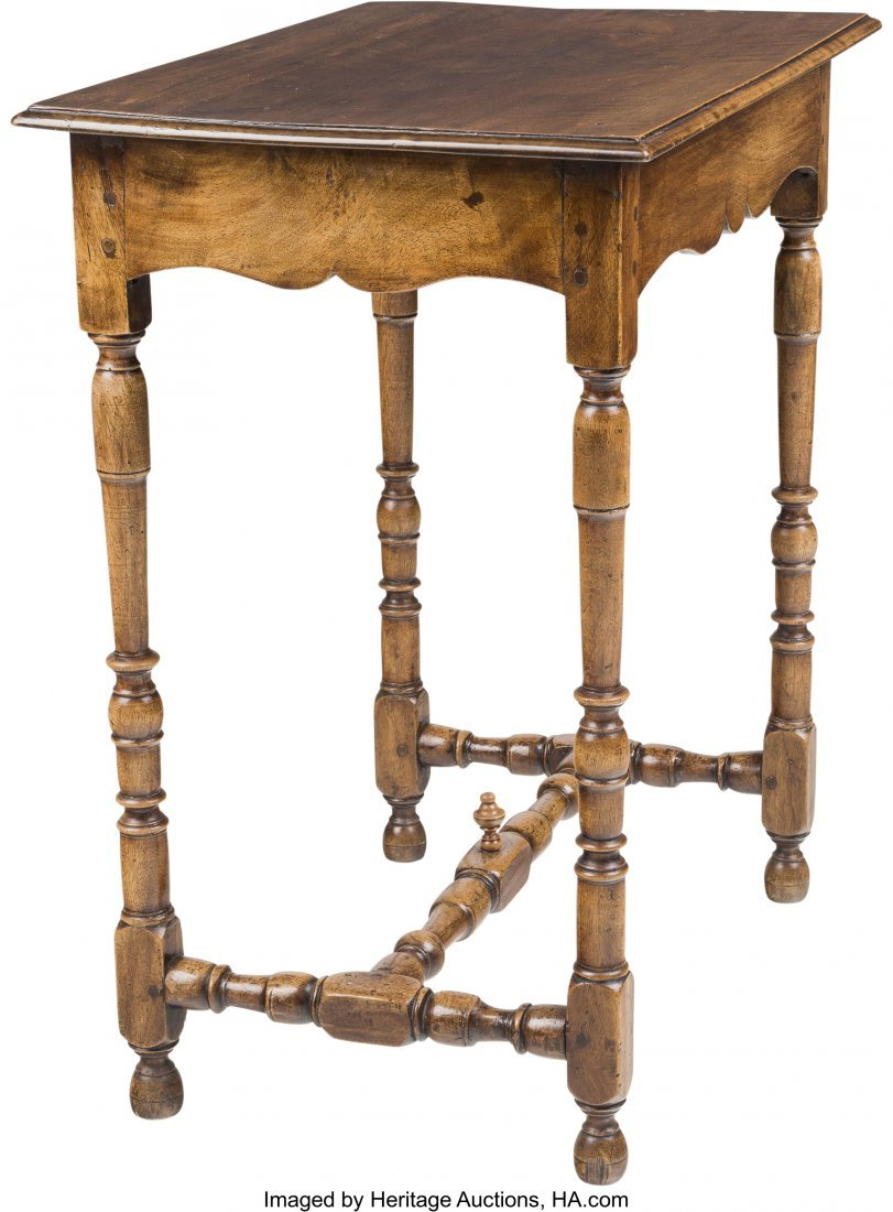 63523: A William & Mary-Style Walnut Side Table, 19th c - 2