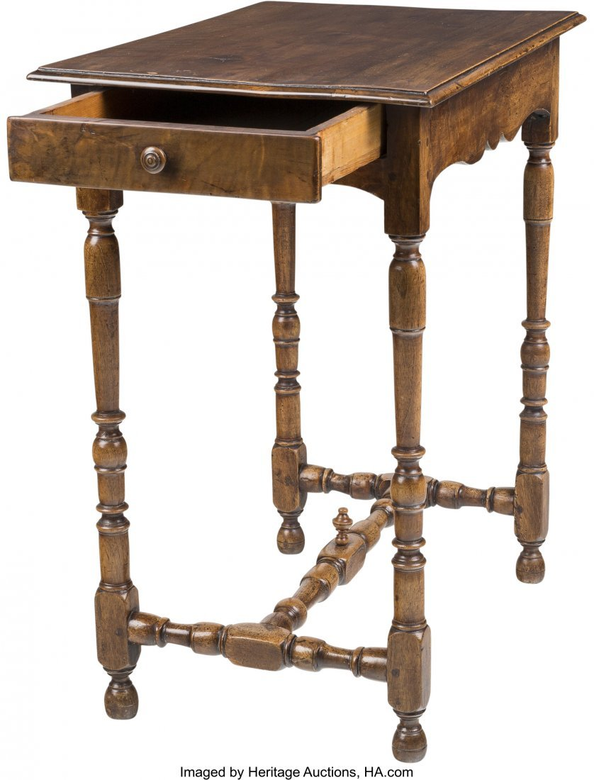 63523: A William & Mary-Style Walnut Side Table, 19th c - 3