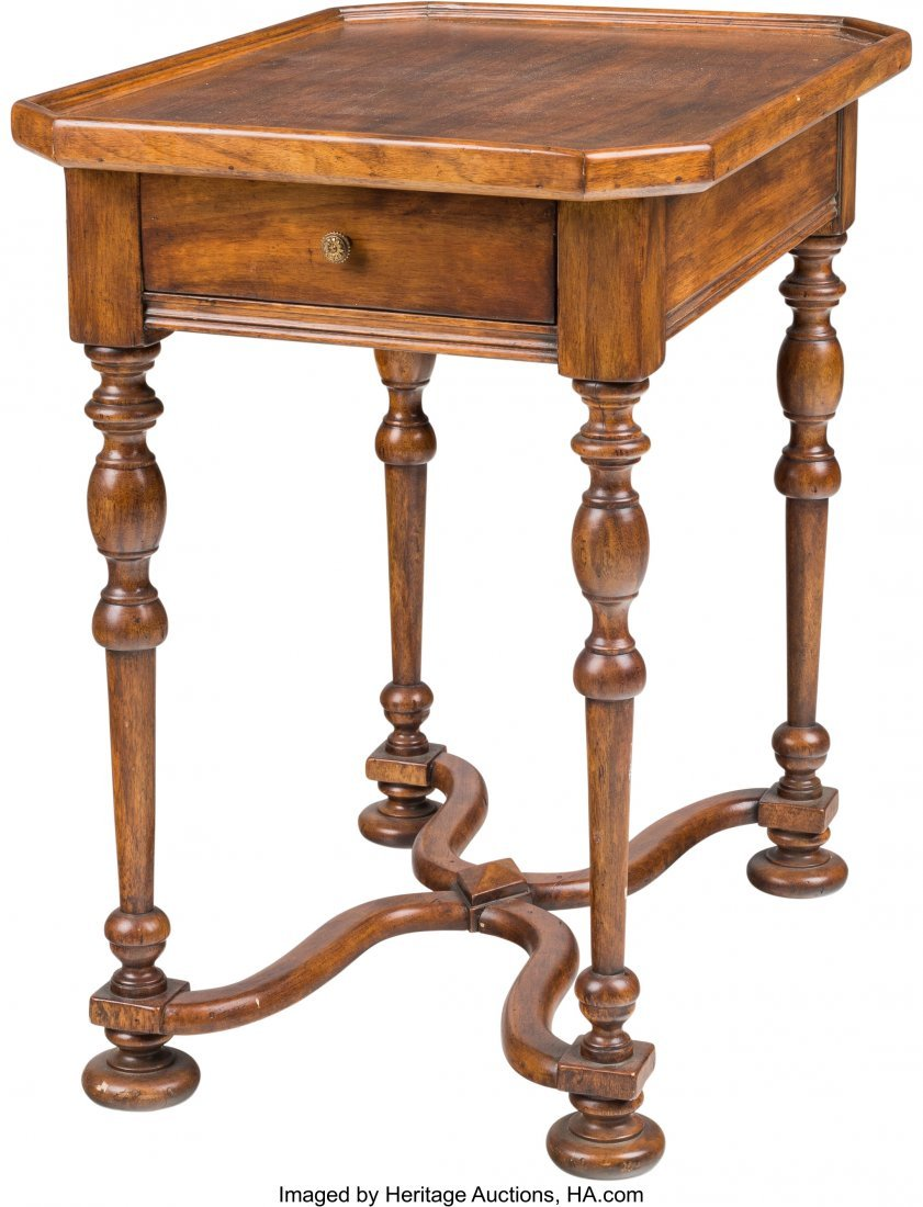 63524: A William & Mary-Style Single Drawer Side Table