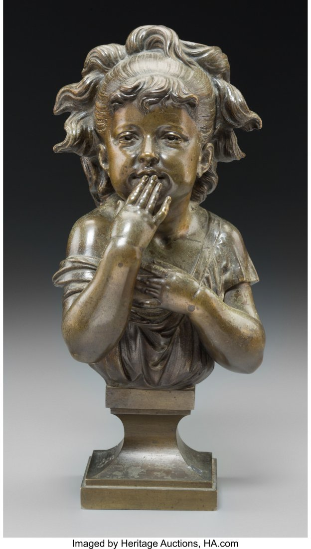 63702: After Nicolas Lecornet (French) Young Girl Bronz