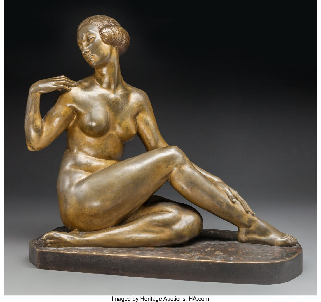 63707: Marcel Bouraine (French, 1886-1948) Reclining Nu
