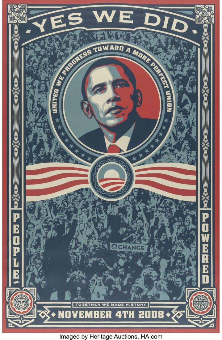 63794: Shepard Fairey (American, b. 1970) Yes We Did!,