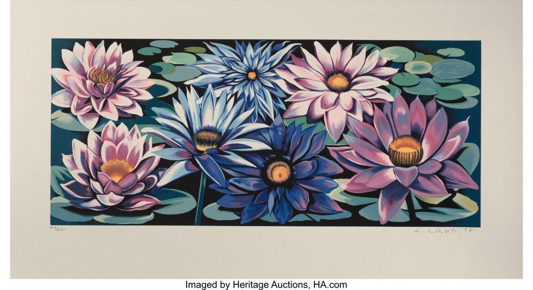 63795: Lowell Nesbitt (American, 1933-1993) Water Lilie