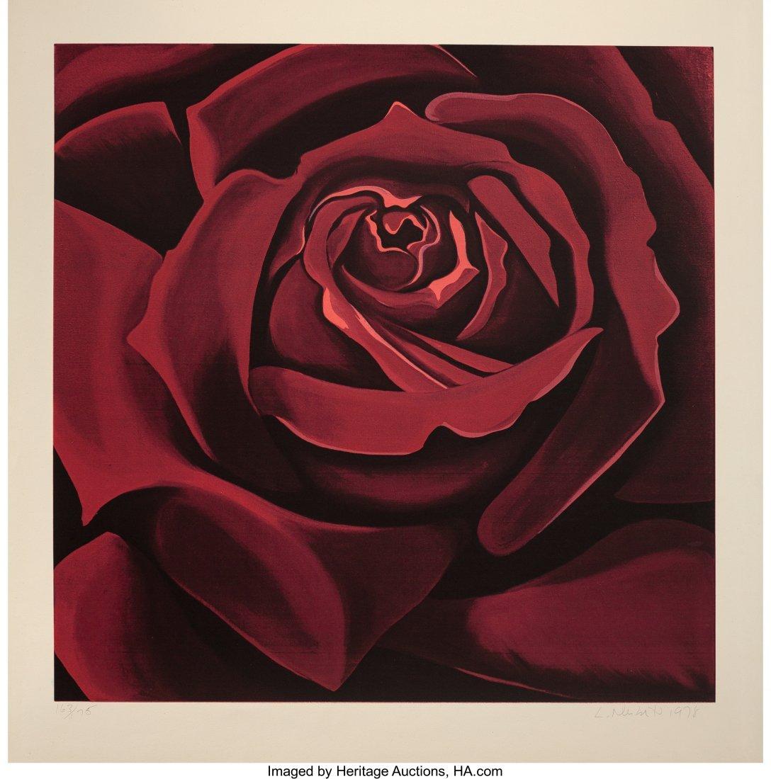 63796: Lowell Nesbitt (American, 1933-1993) Red Rose, 1
