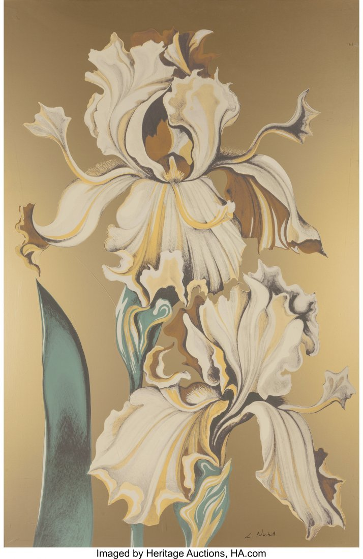 63799: Lowell Nesbitt (American, 1933-1993) Irises (Thr