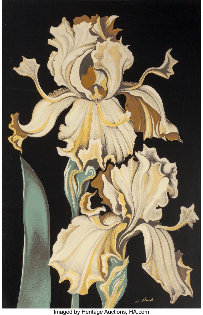 63799: Lowell Nesbitt (American, 1933-1993) Irises (Thr - 2