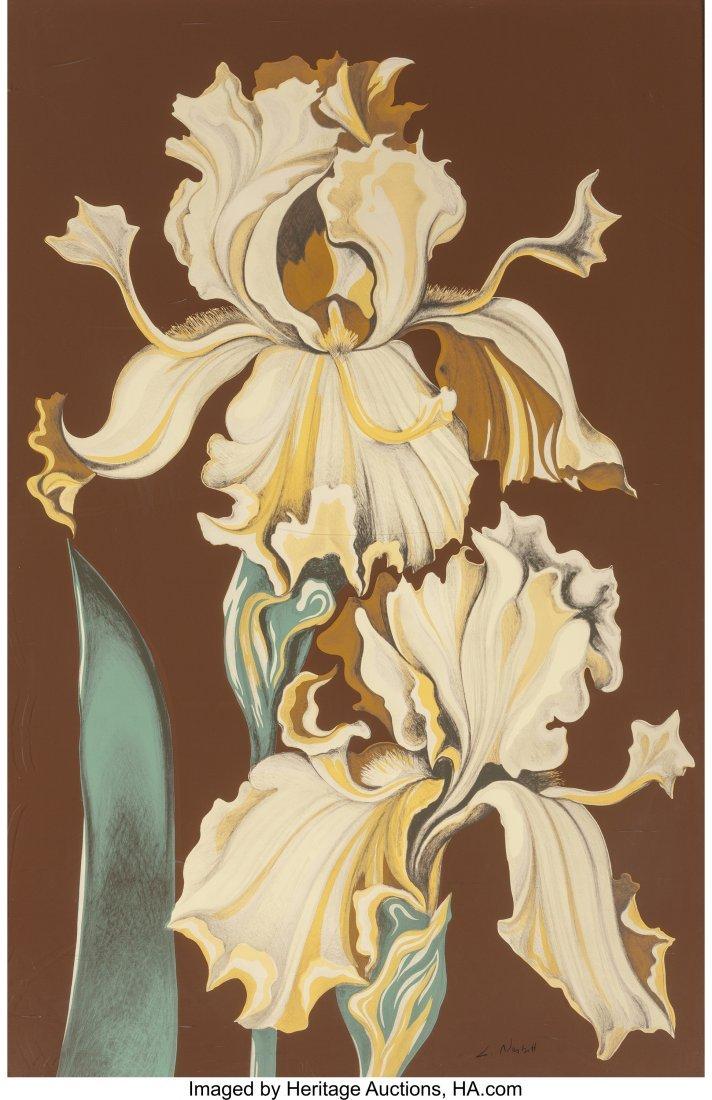 63799: Lowell Nesbitt (American, 1933-1993) Irises (Thr - 3