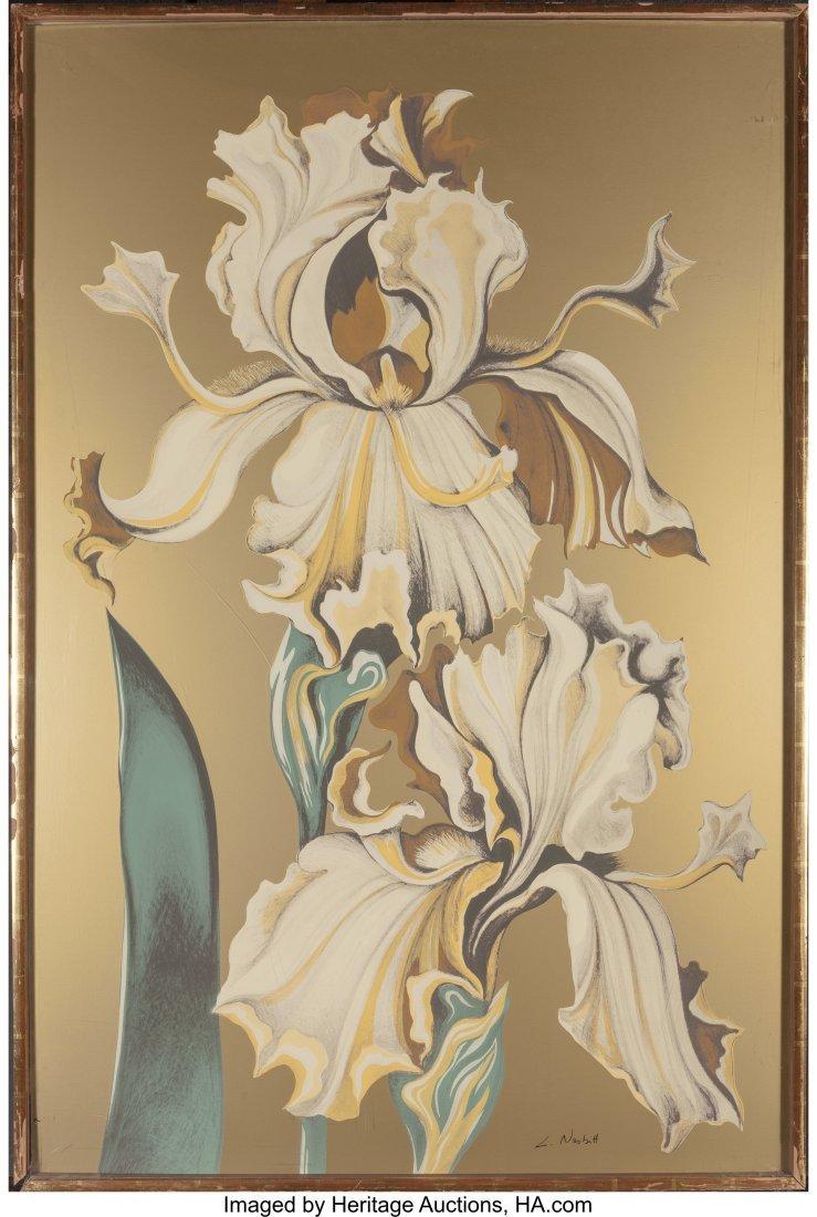63799: Lowell Nesbitt (American, 1933-1993) Irises (Thr - 4