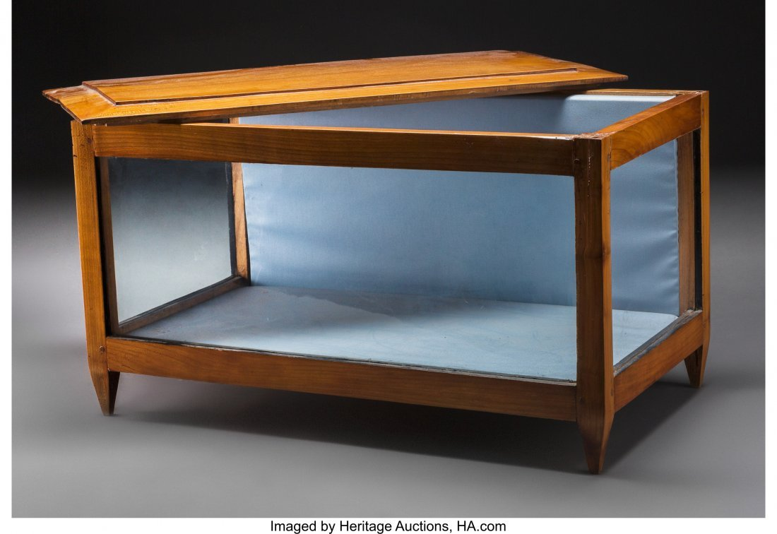 63555: A Biedermeier Cherry Tabletop Glazed Vitrine, 19 - 3