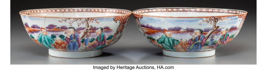 63722: A Pair of Chinese Export Famille Rose Porcelain