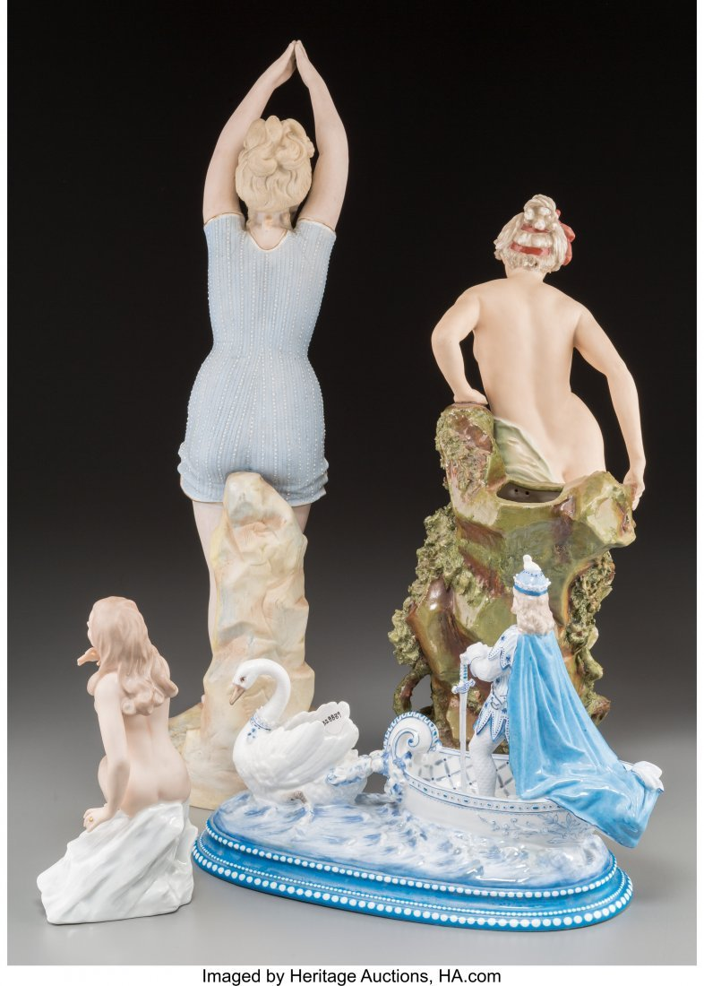 63633: Four French, Austrian, and German Porcelain Figu - 2