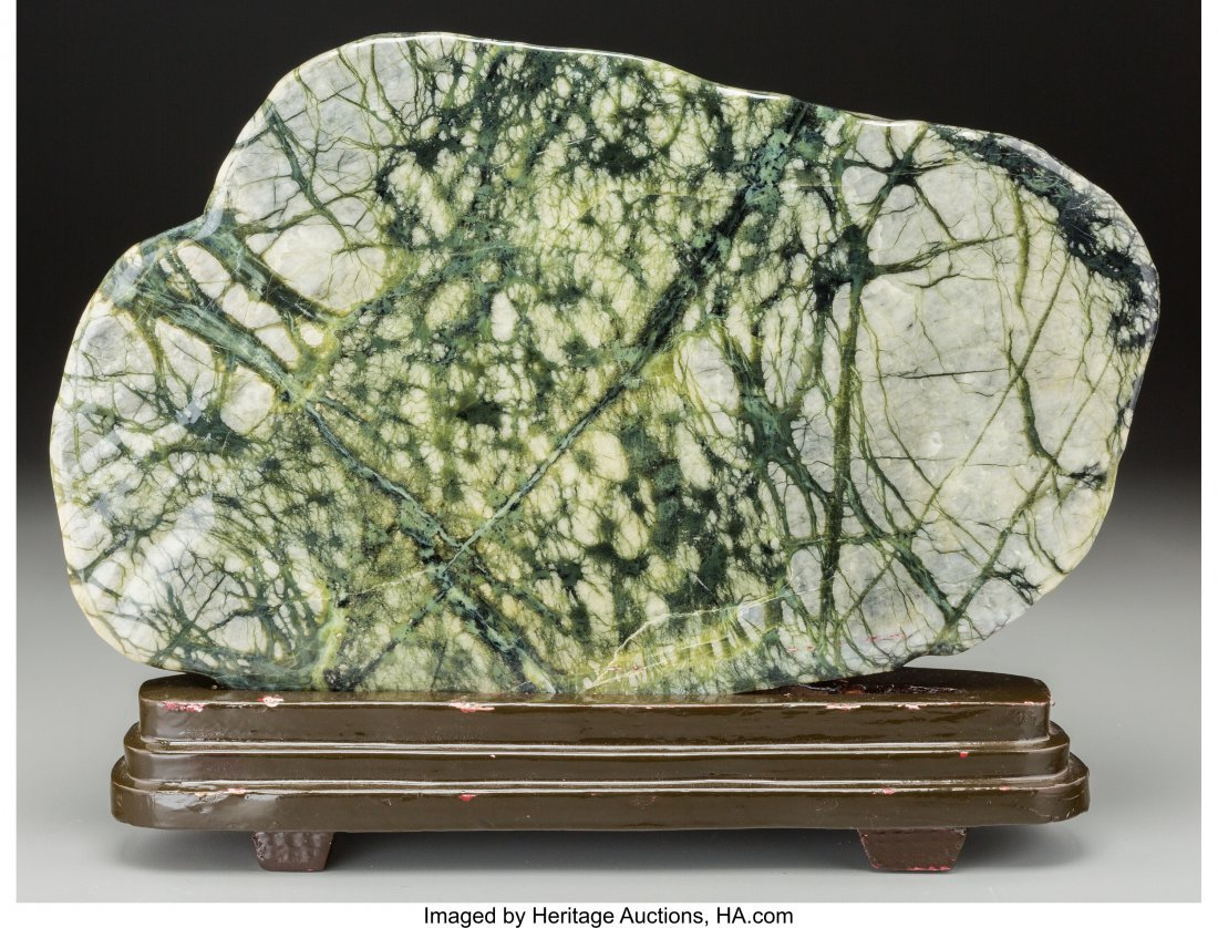 63725: A Chinese Polished Scholar's Rock with Stand 11-