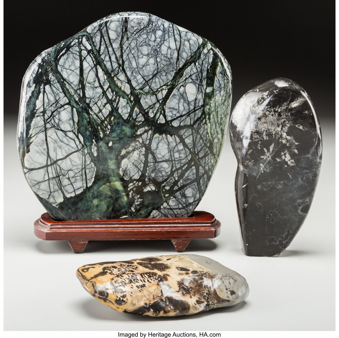 63726: A Group of Three Chinese Scholar's Rocks 9-1/4 i
