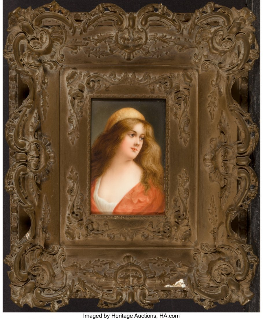 63637: A Hutschenreuther KPM-Style Porcelain Portrait P - 2