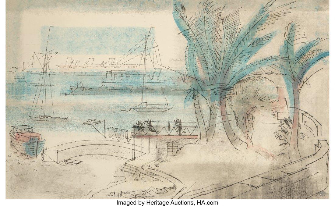 63808: Joe Jones (American, 1909-1963) Tropical Harbor