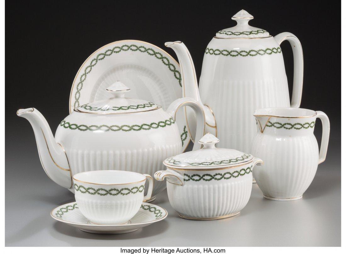 63641: A Thirty-Four Piece Hutschenreuther Porcelain Te