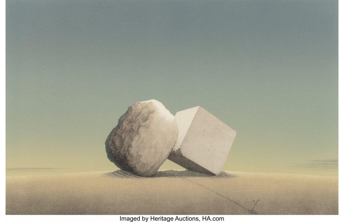 63814: Bruce Lowney (American, b. 1937) Elemental Confl