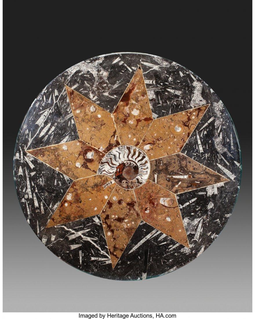 63585: An Artfully Designed Circular Fossil Specimen Ta