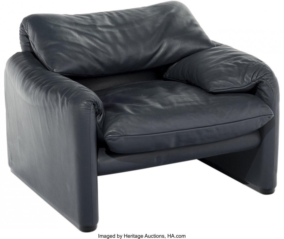 63587: A Vico Magistretti for Cassina Maralunga Leather