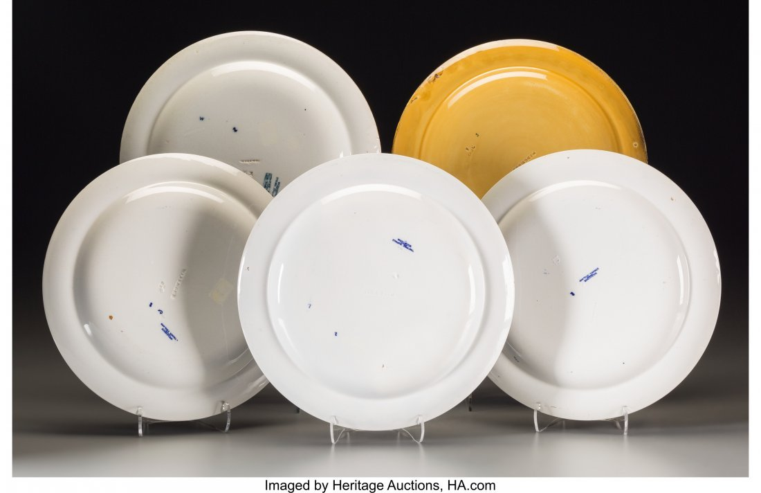 63646: Five Wedgwood Transferware Yachting Plates, Staf - 2