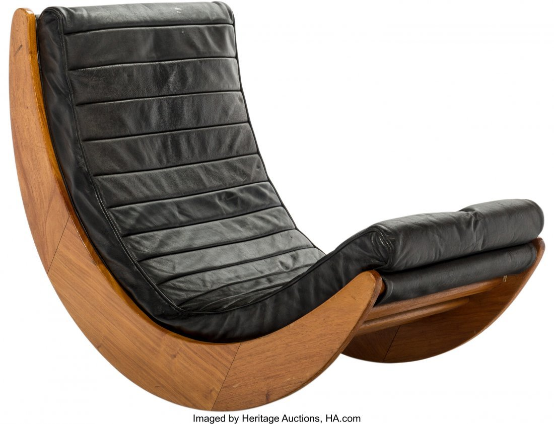 63589: A Verner Panton for Rosenthal Relaxer Oak and Bl