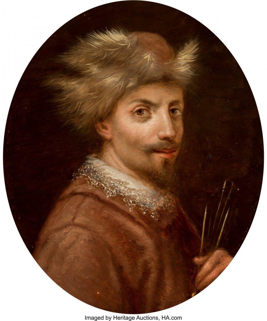 63888: Continental School (19th Century) Self-portrait