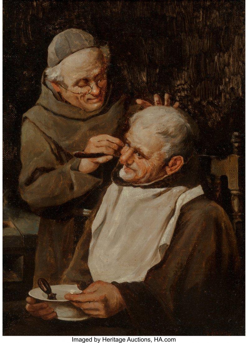 63889: Continental School (19th Century) A Close Shave