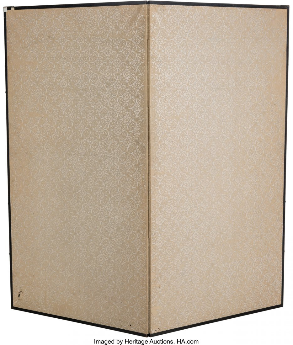 63746: A Large Japanese Painted Room Screen with Chrysa - 3
