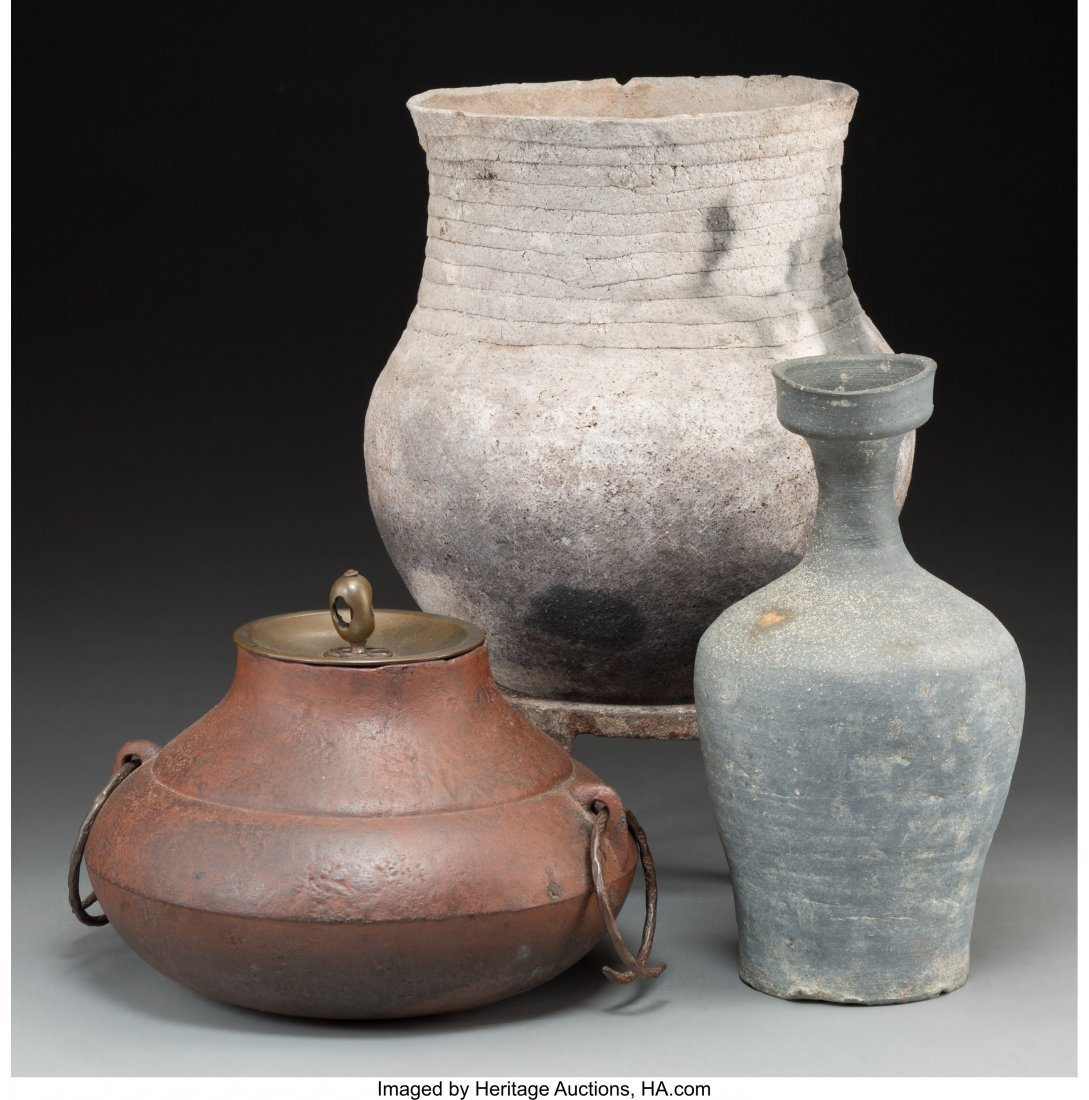 63754: Three Ethnographic Pottery and Iron Vessels 15-1