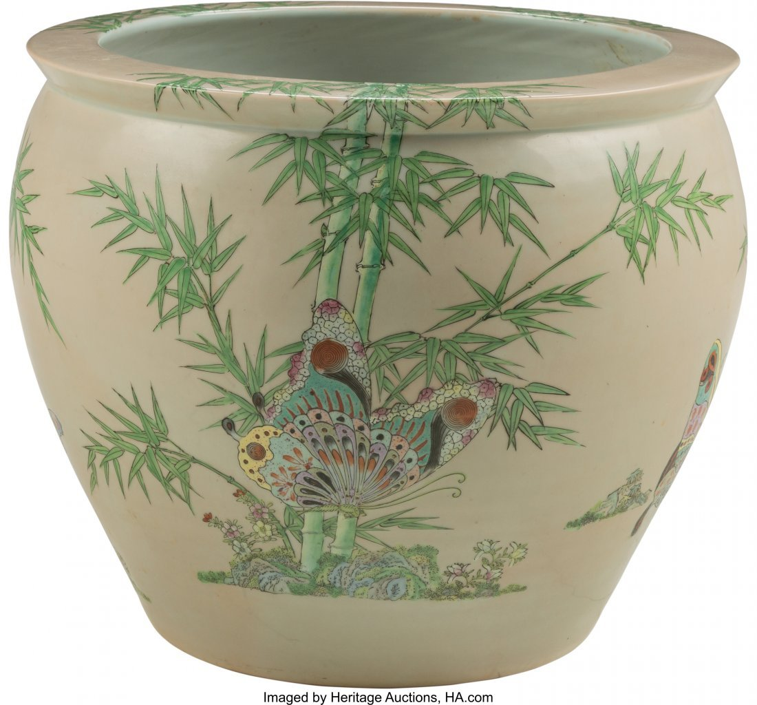 63760: A Large Chinese Porcelain Fishbowl Jardinière 1