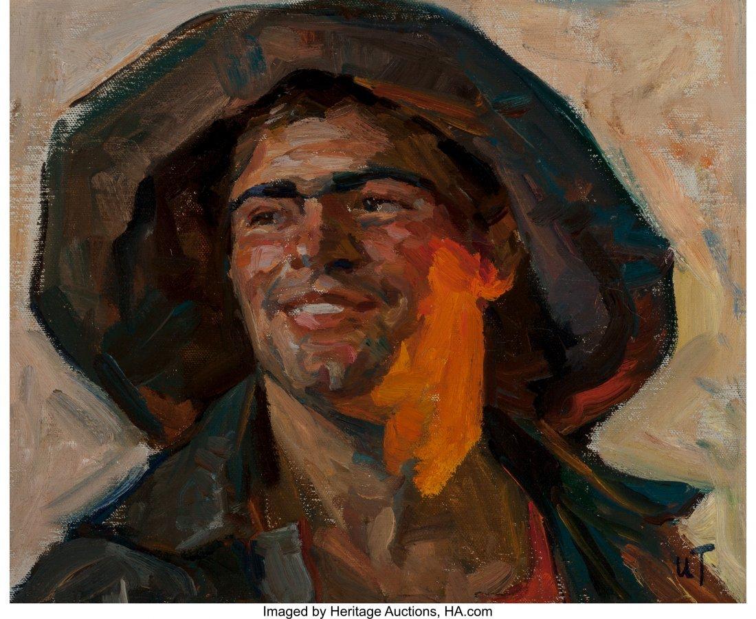 63907: Isaak Tartakovski (Russian, b. 1912) Welder Oil