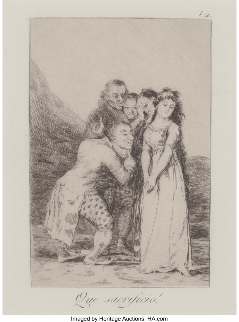 63764: After Francisco José de Goya (Spanish) Que Sacr