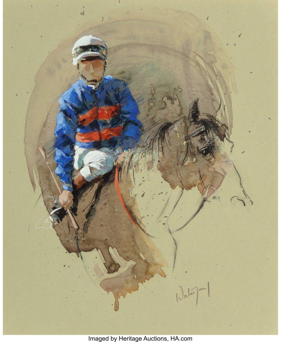 63912: Hubert de Watrigant (French, b. 1954) Blue White