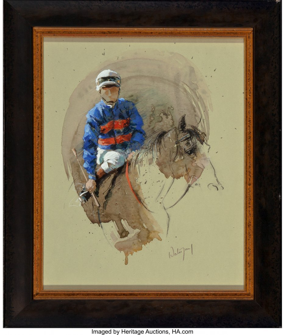 63912: Hubert de Watrigant (French, b. 1954) Blue White - 2