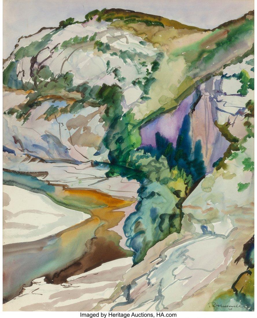 63852: Robert Hallowell (American, 1886-1939) Landscape