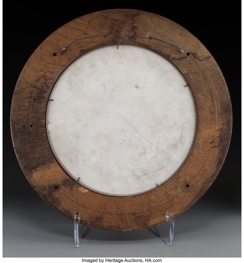 63682: An Italian Carved Carrara Marble Portrait Plaque - 2