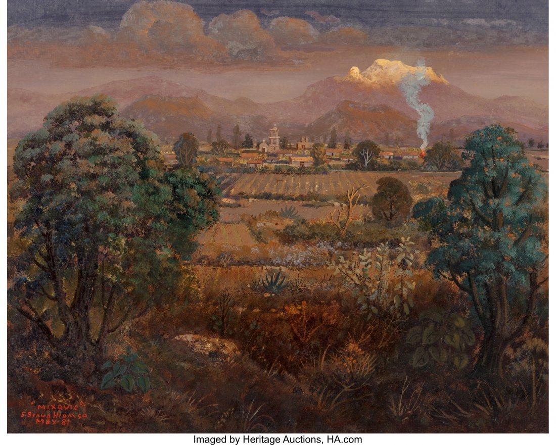 63859: Sergio Bravo Hidalgo (Mexican, b. 1929) Mixquic,