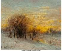 63924: Karl Eugene Felix (1836/7-1906) Winter Landscape