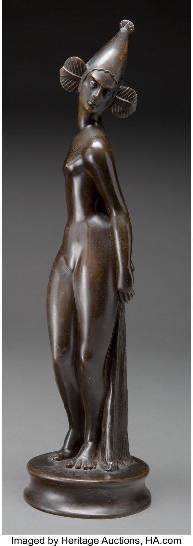 63695: A Patinated Bronze Figure, 20th century Bronze w