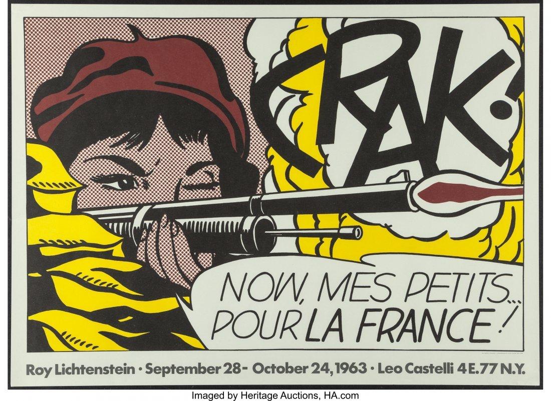 63790: After Roy Lichtenstein Crack!, 1963-64 Lithograp - 2