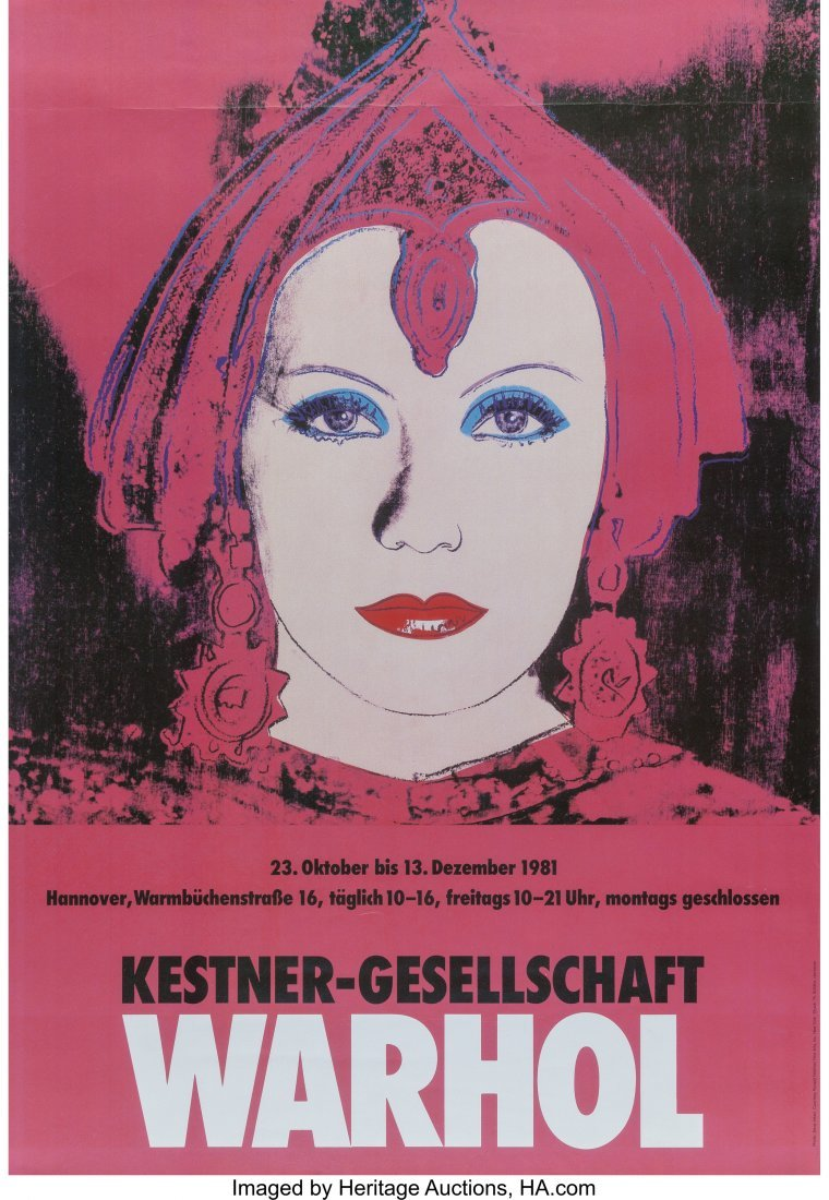 63791: After Andy Warhol  Warhol, exhibition poster, 19