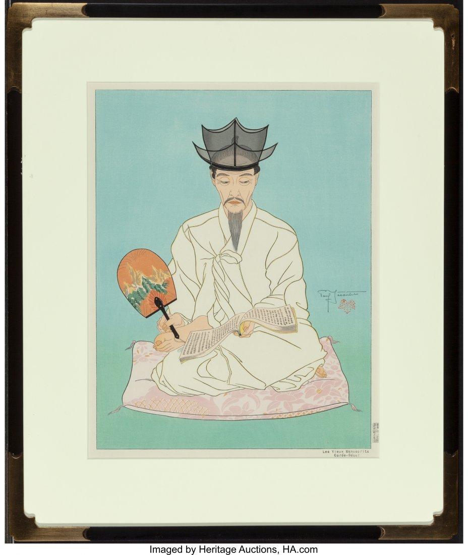 63881: Paul Jacoulet (French, 1902-1960) Les Vieux Manu - 4