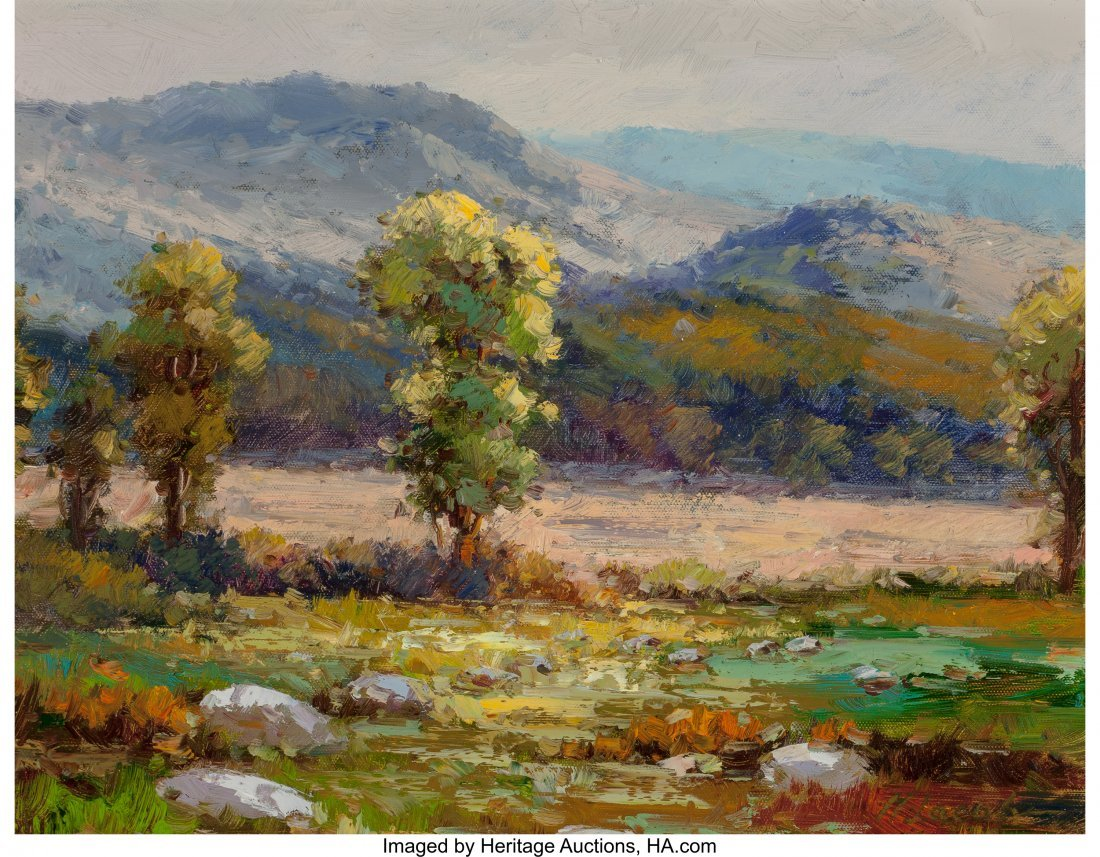 63944: M Jacob (American, 20th Century) Mountain Landsc